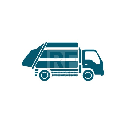 Garbage Truck silhouette Vector Image #194.