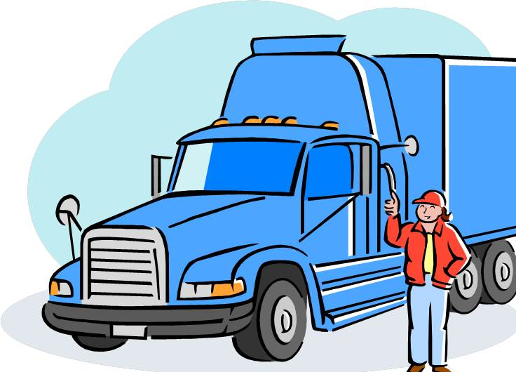 Truck Driver Clipart Drawings 3150.