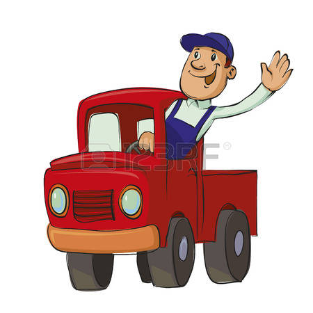 Truck Driver Clipart Old Driving Illustration.