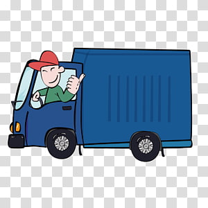 Truck Driver transparent background PNG cliparts free.