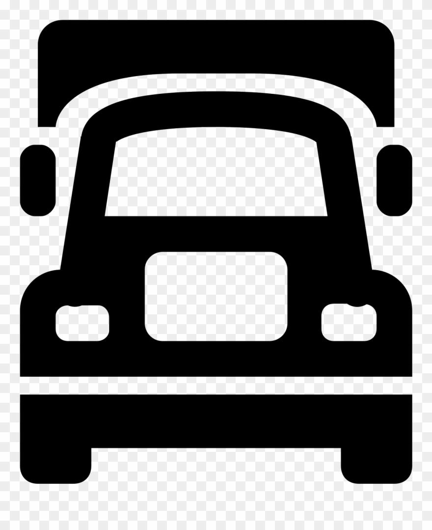 Semi Truck Icon.