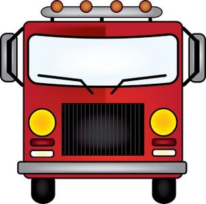 Front Of Fire Truck Clipart.