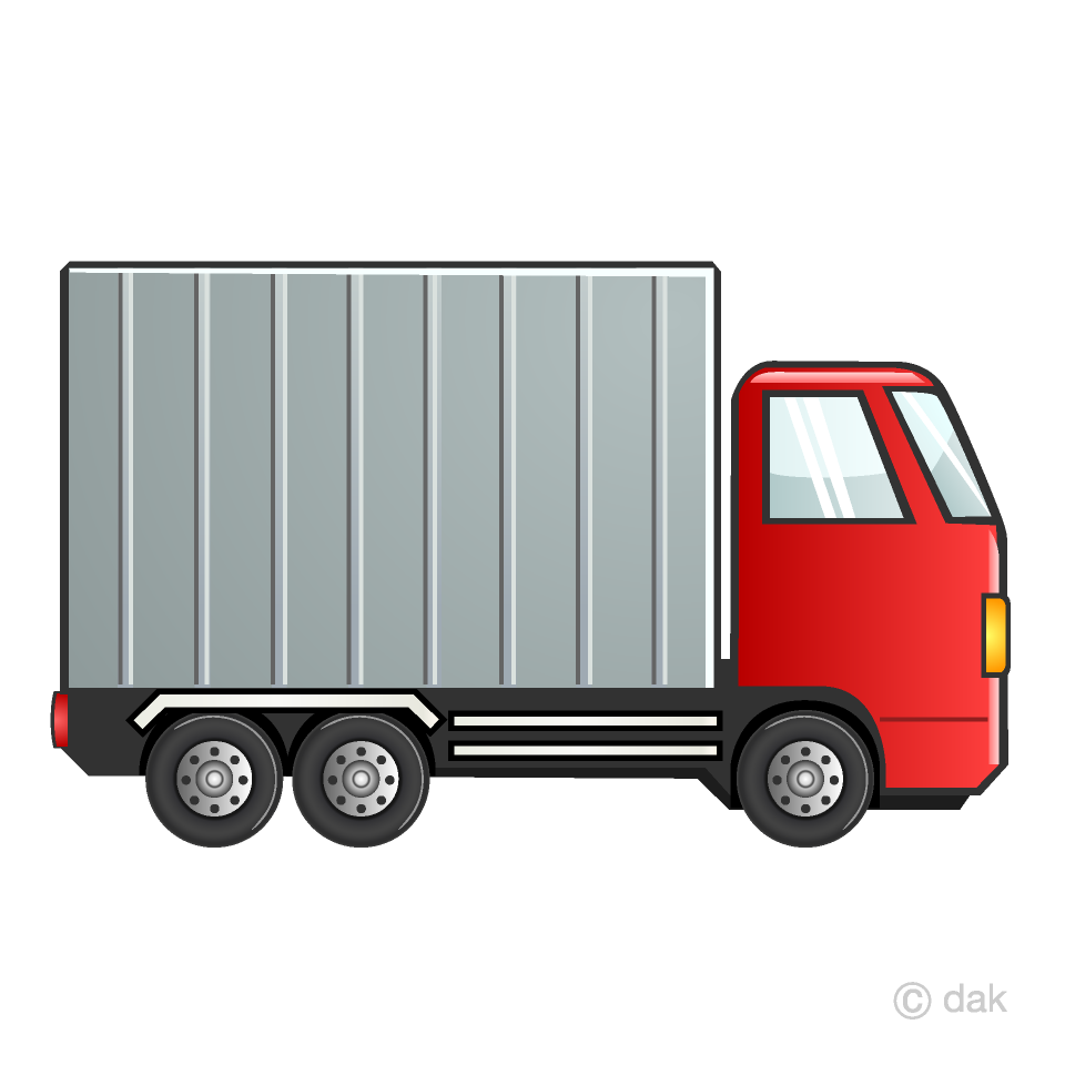 Red Container Truck Clipart Free Picture|Illustoon.