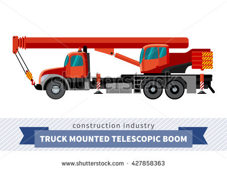 Truck Mounted Crane Lizenzfreie Bilder und Vektorgrafiken kaufen.