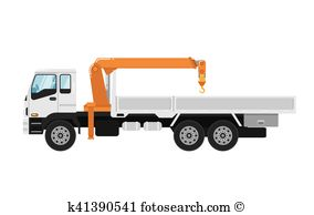 Truck mounted crane Clip Art and Illustration. 34 truck mounted.