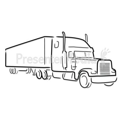 76+ Semi Truck Clip Art.
