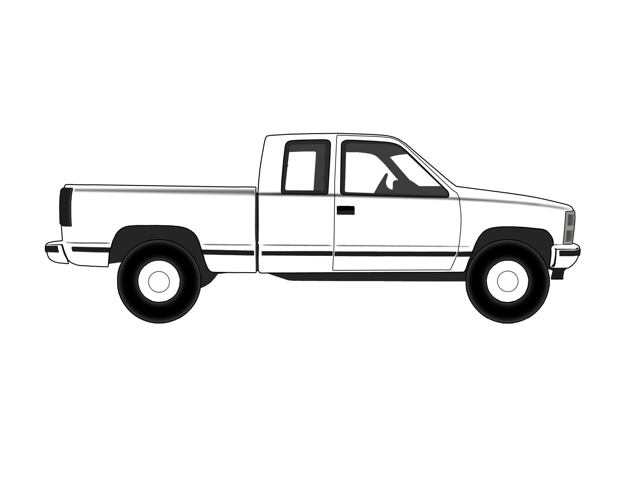 Truck Outline Clip Art.