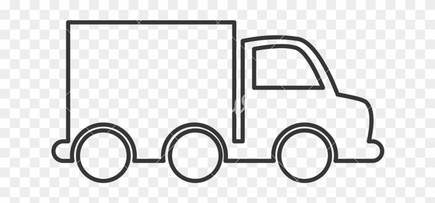 Truck Outline Truck Outline Icons By Canva.