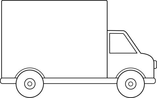 Delivery Truck Outline.
