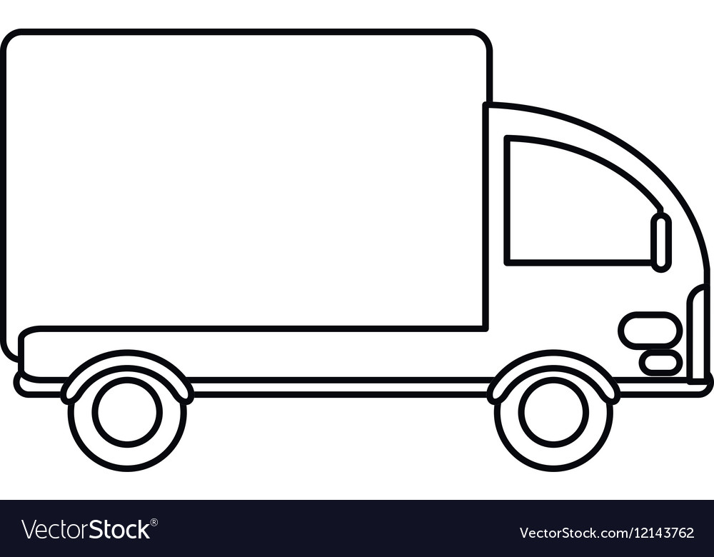 Truck Outline Free Download Clip Art.