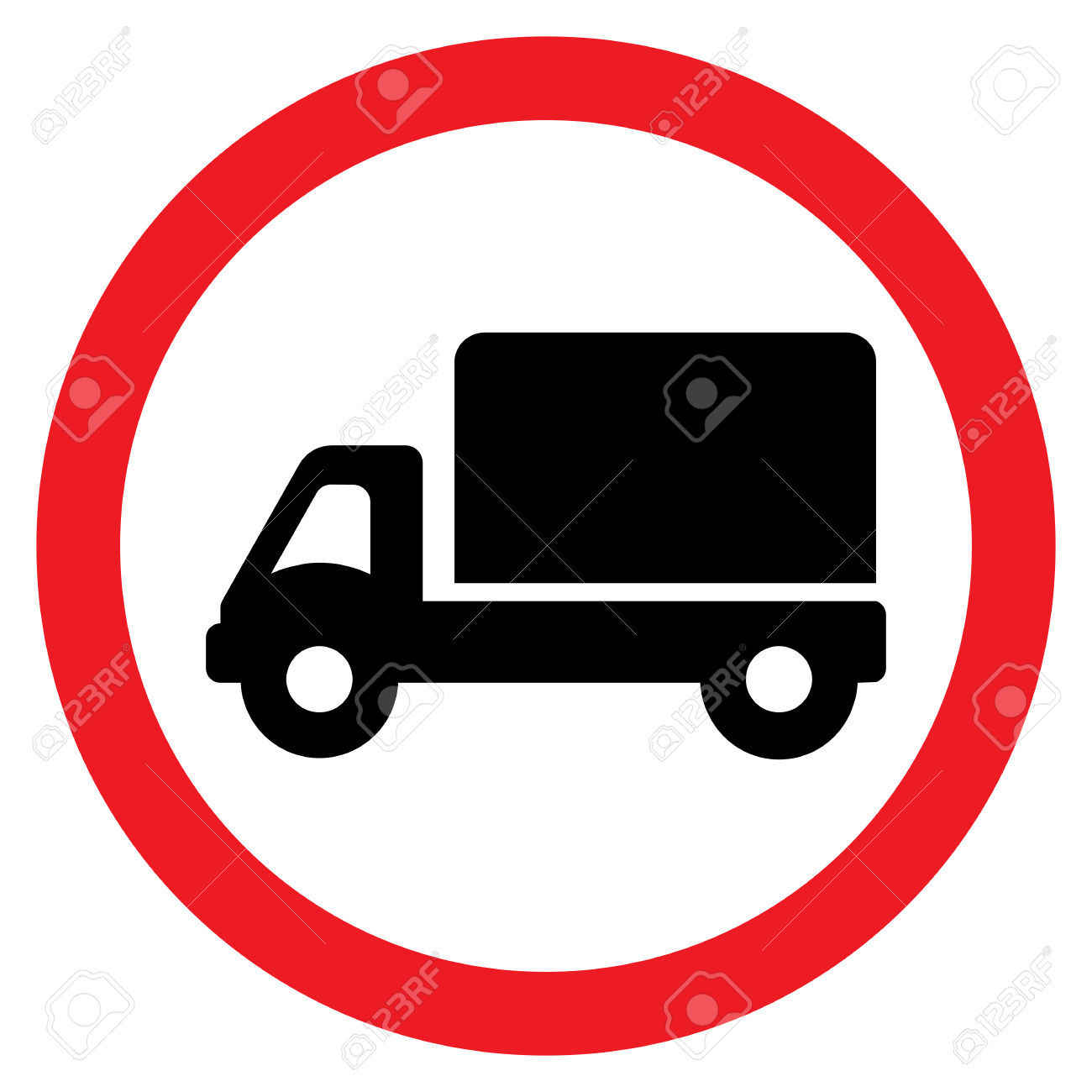 Truck Road Sign Royalty Free Cliparts, Vectors, And Stock.