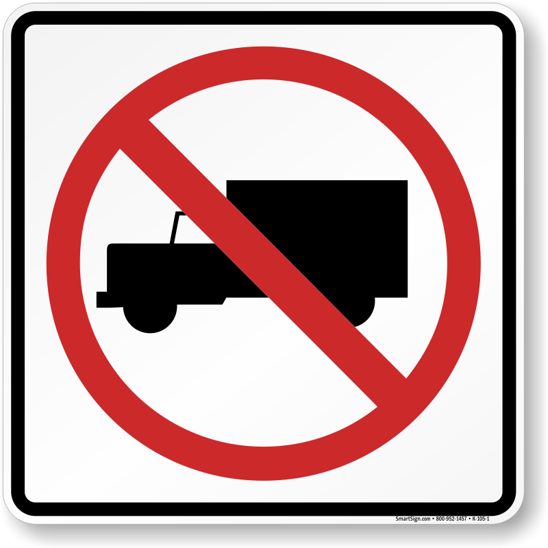 No Truck Trailers Signs.
