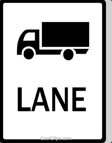 Australian road sign, Truck Lane Royalty Free Vector Clip Art.