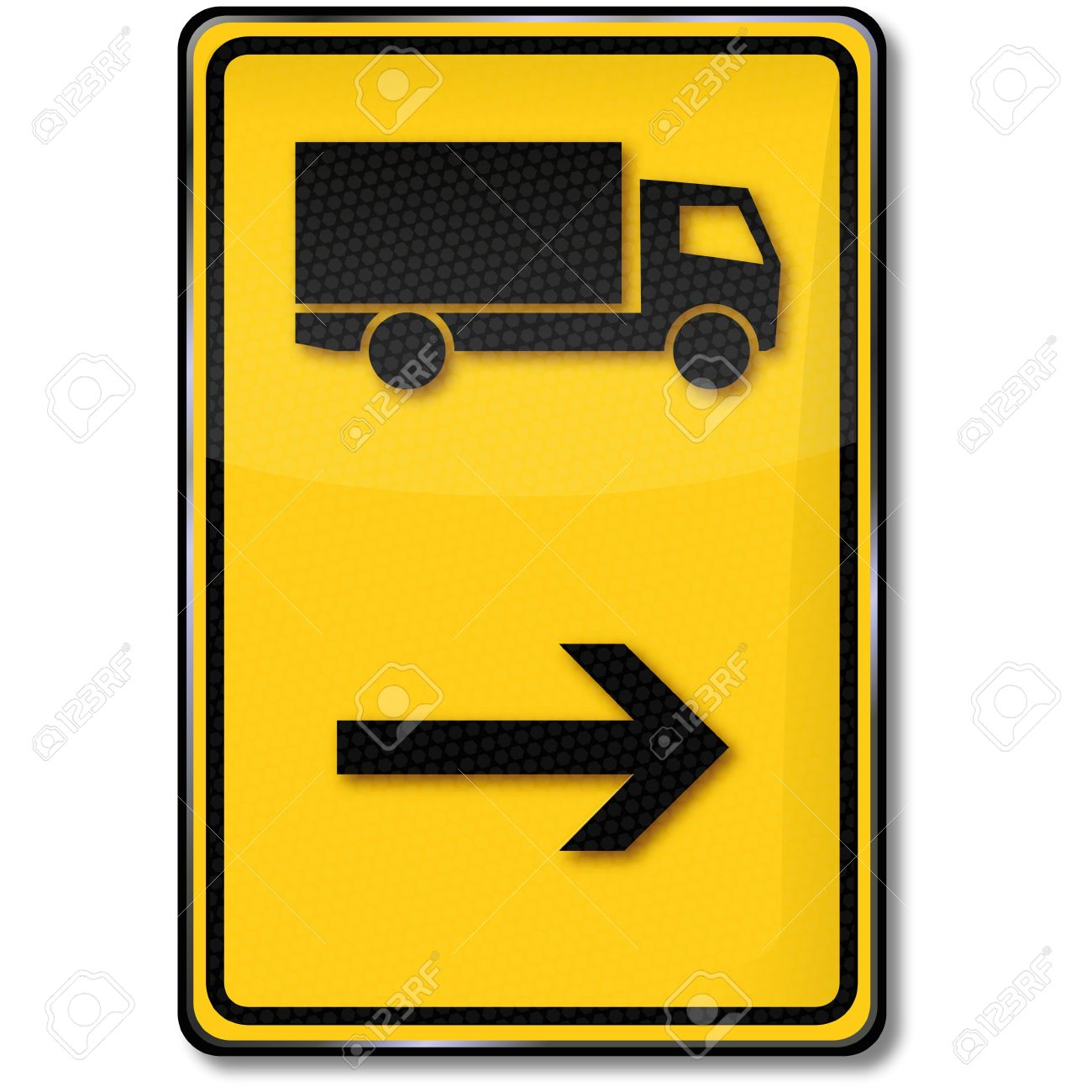 Road Sign Truck Diversion Royalty Free Cliparts, Vectors, And.