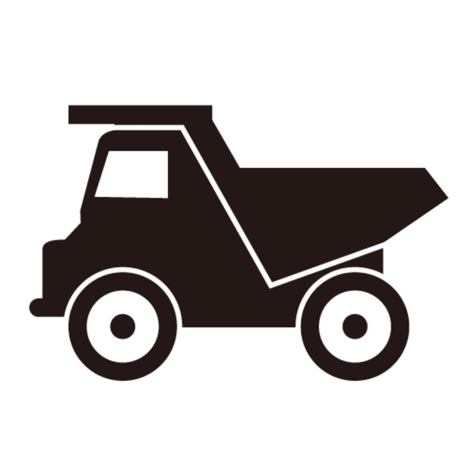 Dump Truck Silhouette Clip Art free image.