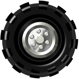 Truck tire clipart.
