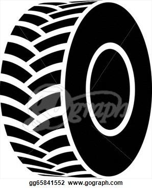 Truck Tyre Clipart.