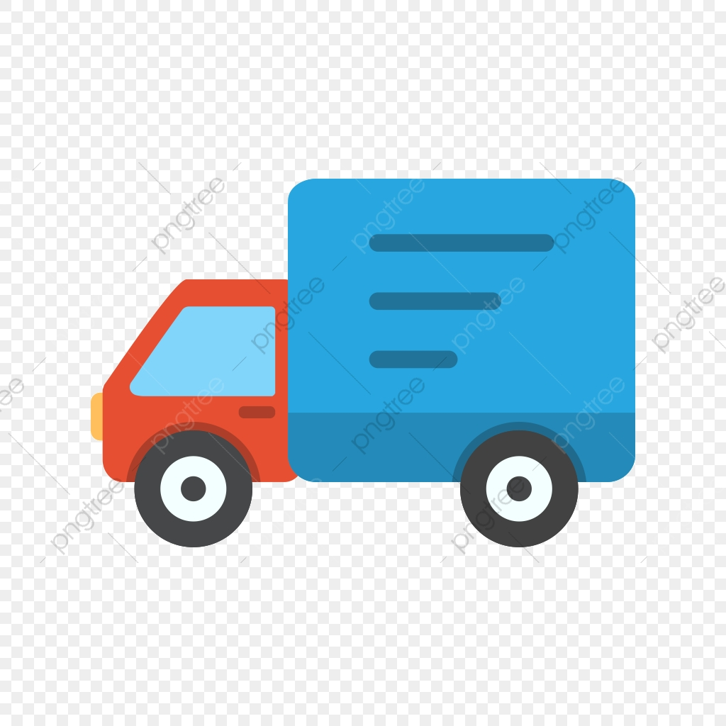 Delivery Truck Vector Icon, Truck Icon, Van Icon, Fast Icon.