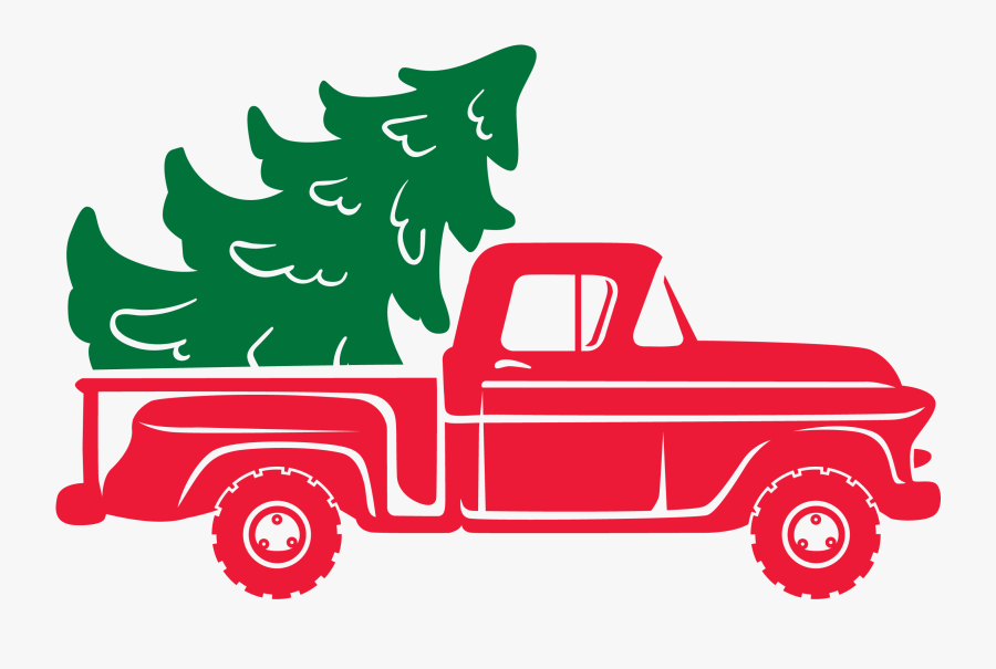 Clip Art Christmas Tree Truck Svg.
