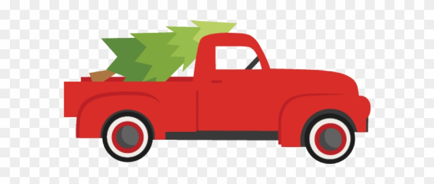 Truck With Tree Clipart.