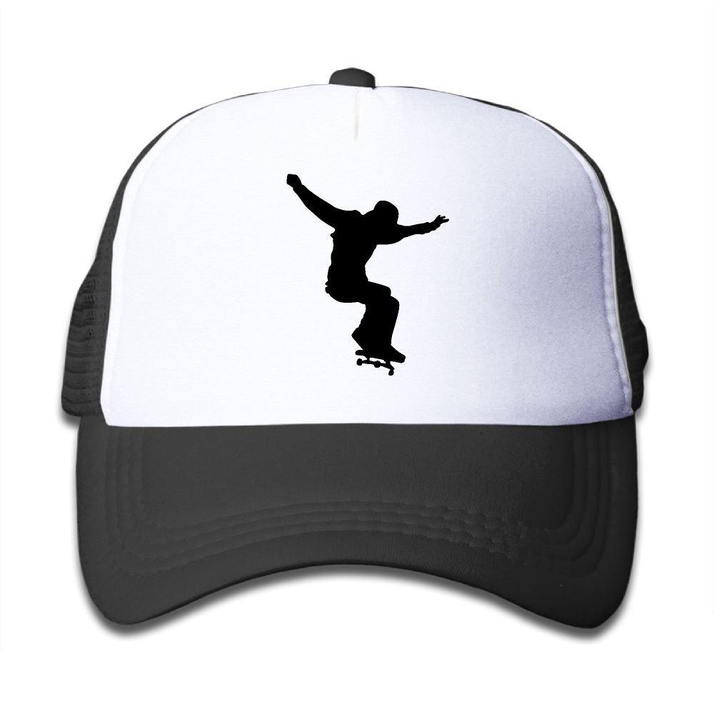 Amazon.com: Skateboard Clipart Silhouette On Kids Trucker.
