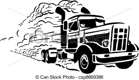 Trucking company clipart.