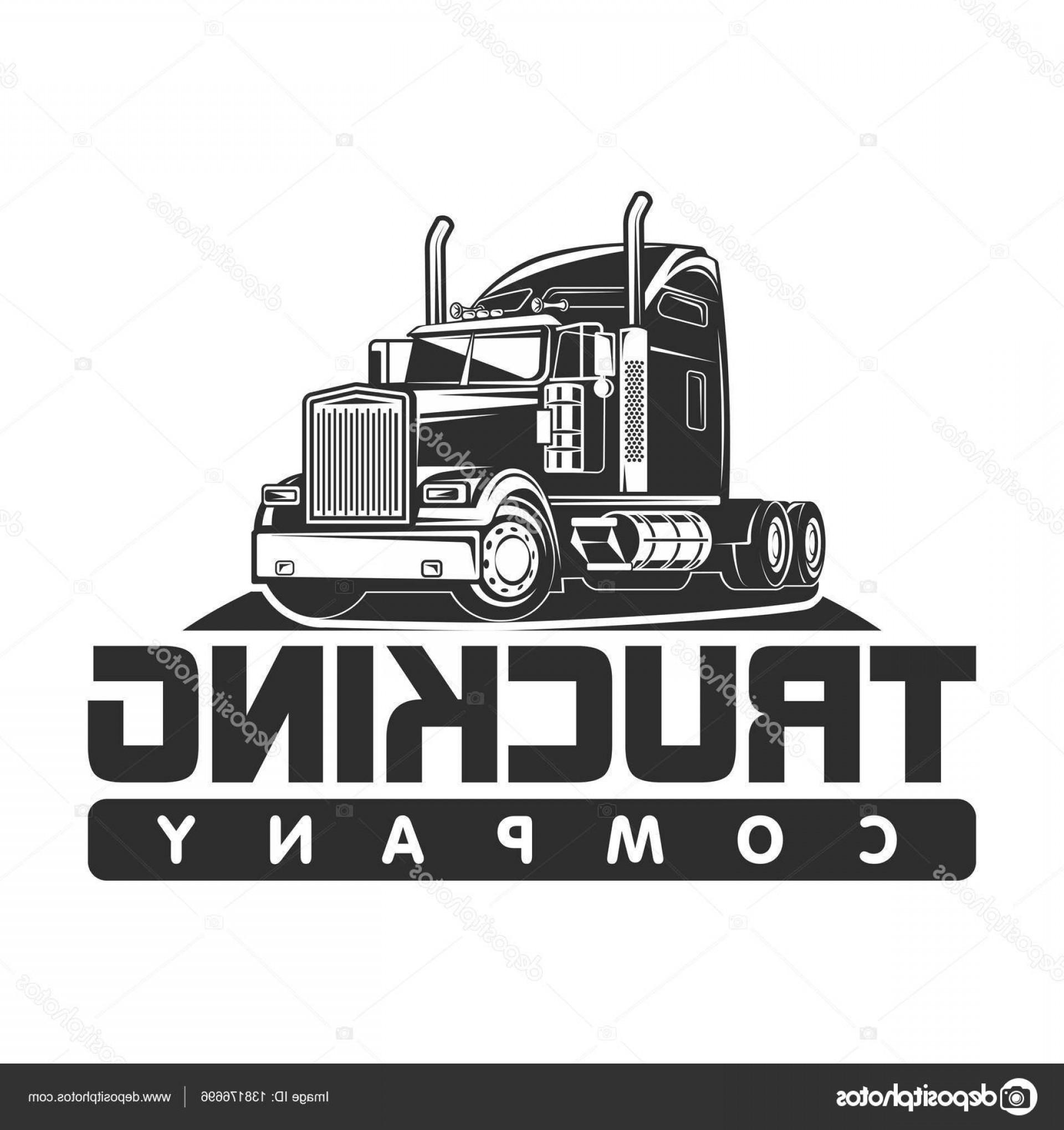 Stock Illustration Trucking Company Logo Black And.