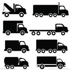 dump truck silhouette.