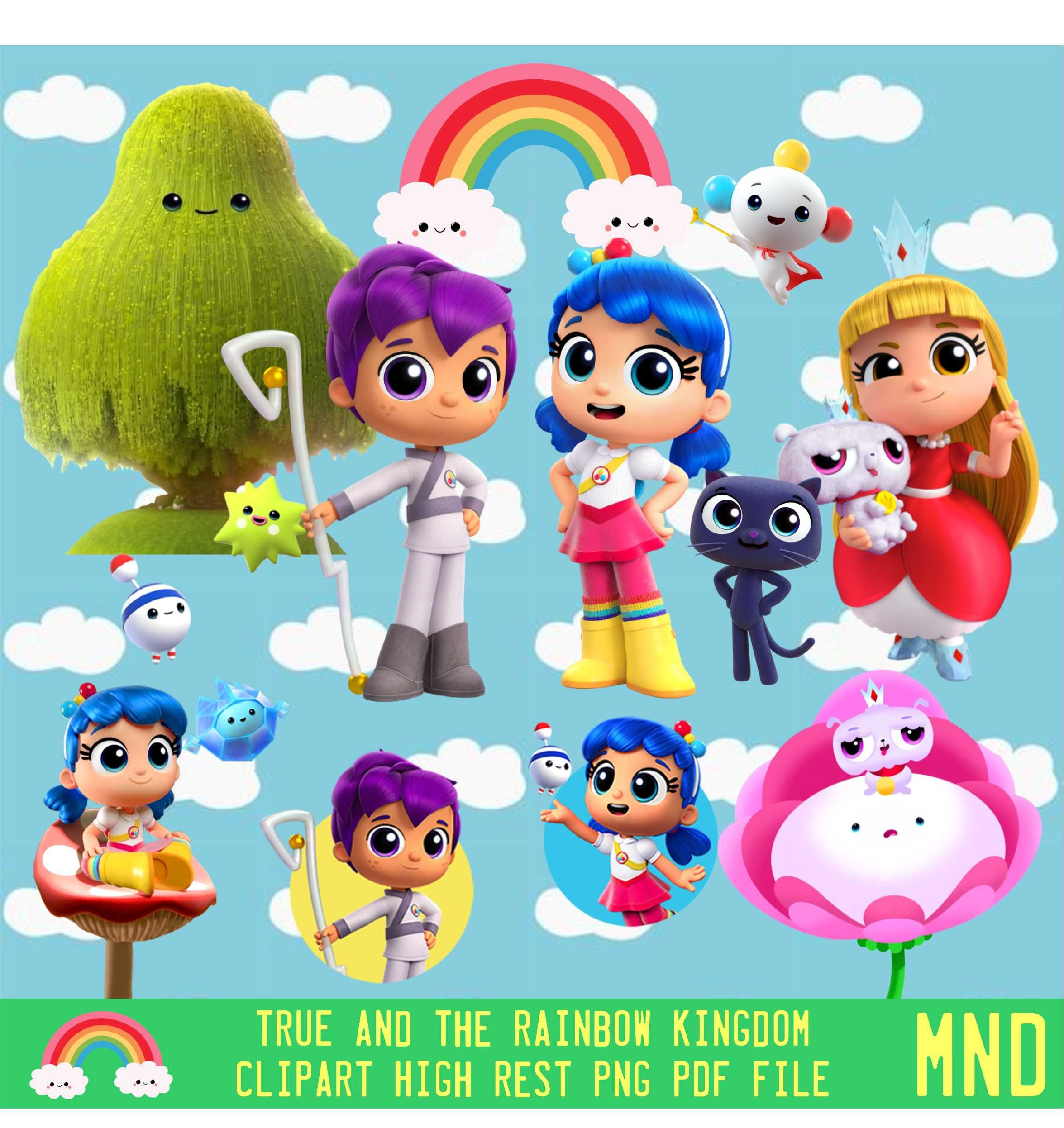True And The Rainbow Kingdom Netflix Clipart Printable.