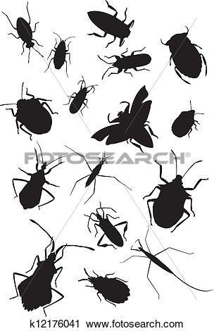 Clipart of Collection of true bugs k12176041.