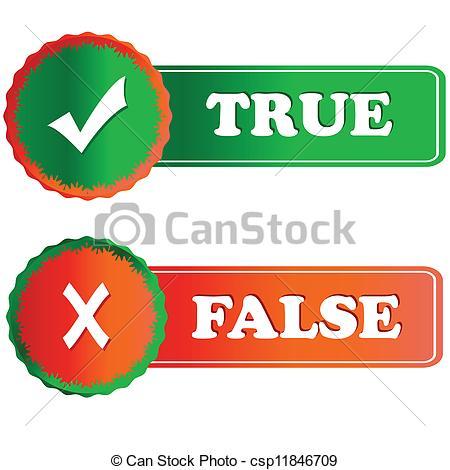 True Or False Clipart.
