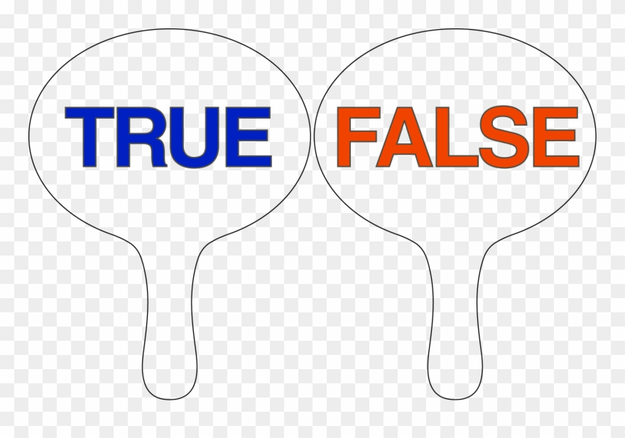True False Yes No Voting Paddles Clipart (#3566536).