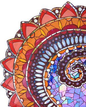 Mosaic Mandala — True Mosaics Studio.