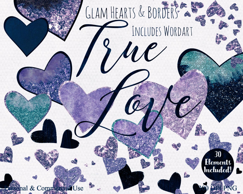 LOVE HEARTS WATERCOLOR Clipart Commercial Use Clip Art True Love.