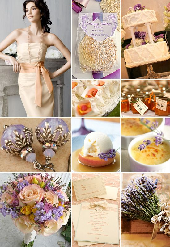 Peach and Lavender Weddings {Color Board}.