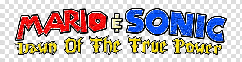 Mario and Sonic Dawn of the True Power Logo, mario sonic.