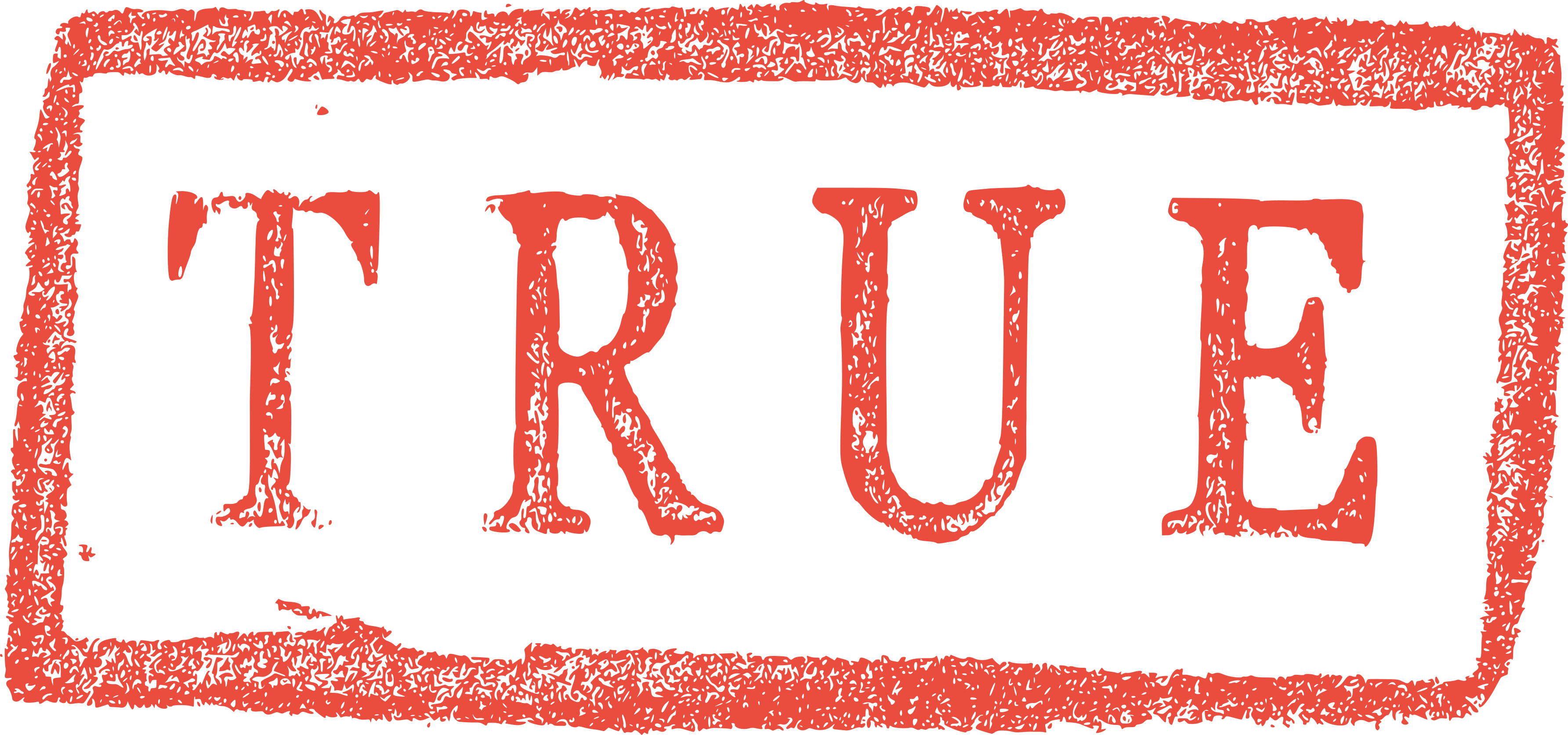Grunge True False Stamp (PNG Transparent).
