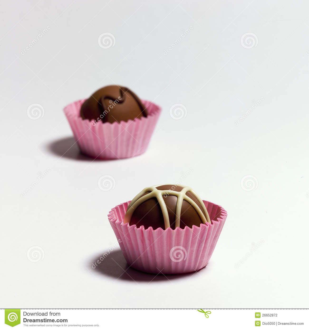 Chocolate Truffles Stock Photography.