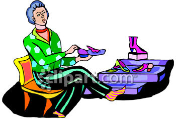 Royalty Free Clipart Image: Shoe Store.