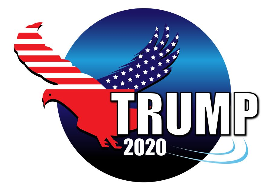 Entry #75 by sameersamtal for Trump 2020 logo.