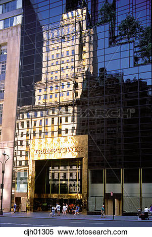 Stock Image of Trump Tower in New York City djh01305.