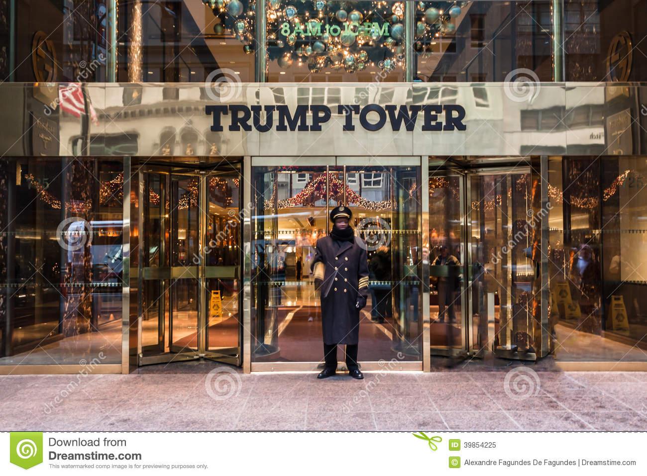 Trump Tower NYC Editorial Image.
