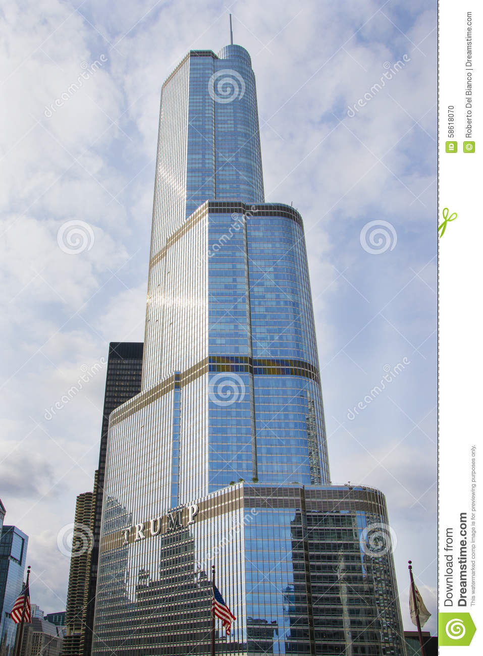 Trump Tower By Day, Chicago, USA Editorial Image.