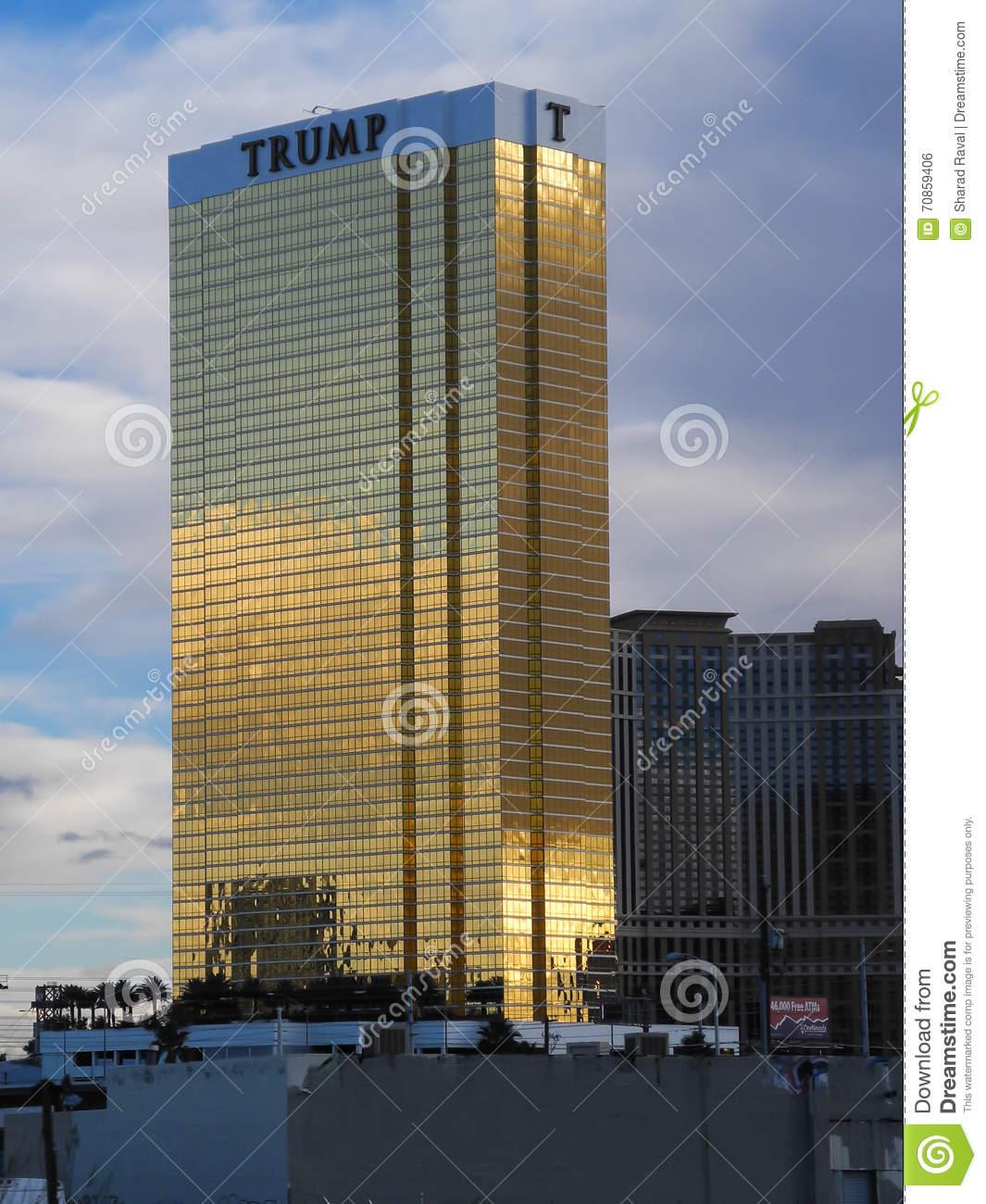 The Trump Tower In Las Vegas, Nevada, USA Editorial Photo.