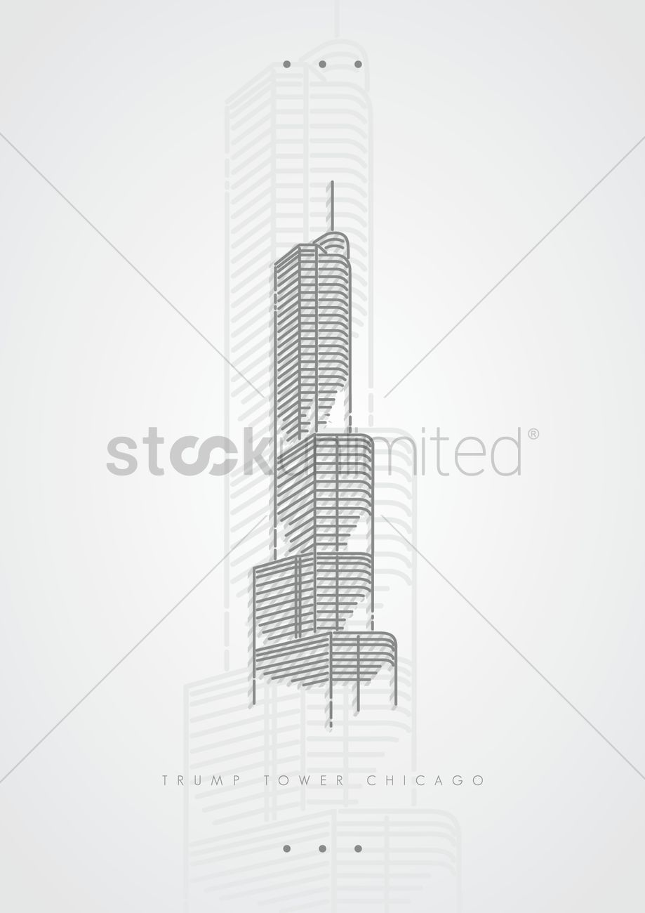 Trump tower chicago Vector Image.