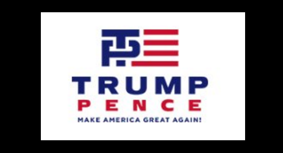Trump\'s campaign logo mocked on Twitter.