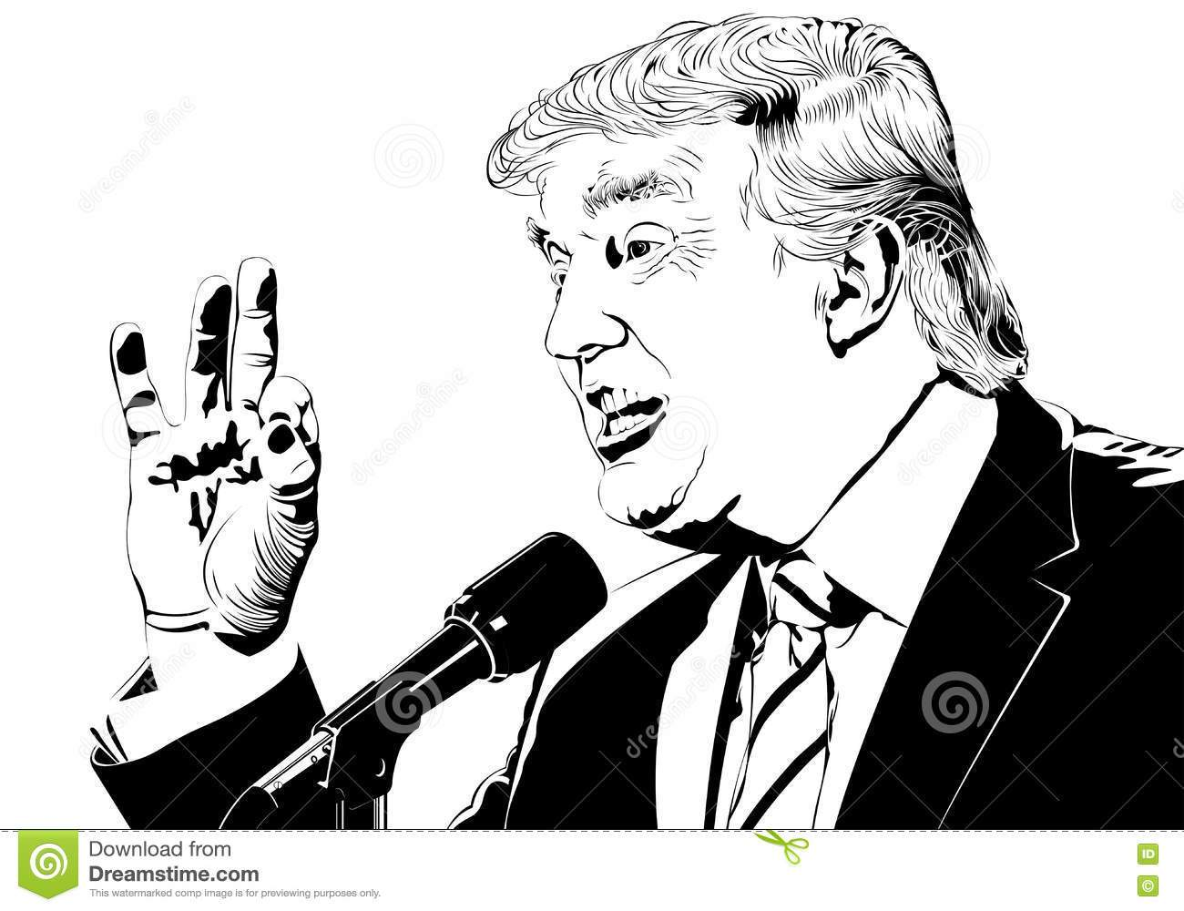 Trump clipart black and white 2 » Clipart Portal.