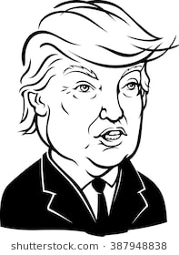 Donald trump clipart black and white 1 » Clipart Station.