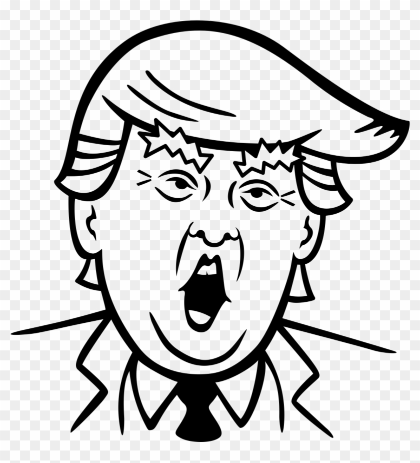 Banner Royalty Free Library Donald Trump Clipart Black.