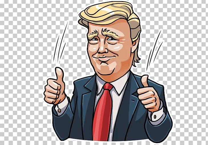 Telegram United States Donald Trump Sticker Illustrator PNG.